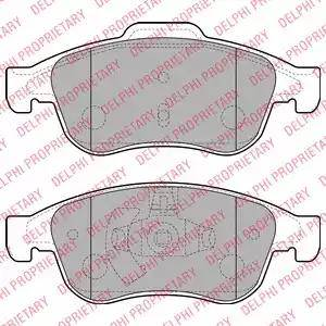 Delphi LP2152 - Тормозные колодки, дисковые sparts.com.ua