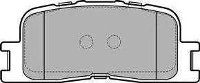 Delphi LP2703 - Тормозные колодки, дисковые sparts.com.ua
