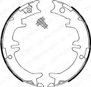Delphi LS1892 - Комплект тормозов, ручник, парковка sparts.com.ua