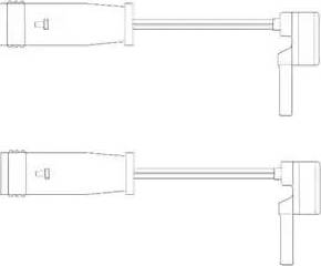 Delphi LZ0153 - Сигнализатор, износ тормозных колодок sparts.com.ua