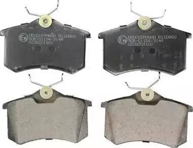 Denckermann B110860 - Тормозные колодки, дисковые sparts.com.ua