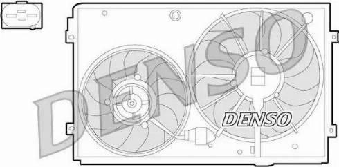 Denso DER32011 - Вентилятор, охлаждение двигателя sparts.com.ua