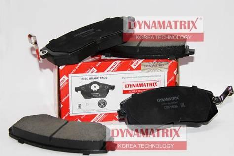 Dynamatrix DBP1639 - Тормозные колодки, дисковые sparts.com.ua