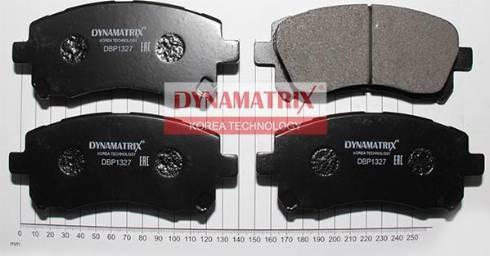 Dynamatrix DBP1327 - Тормозные колодки, дисковые sparts.com.ua