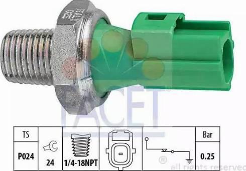 FACET 70146 - Датчик давления масла sparts.com.ua