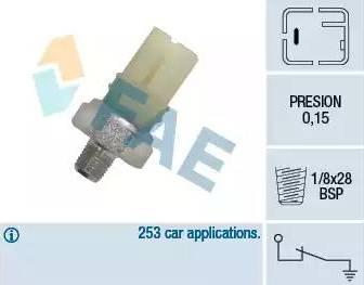 FAE 12420 - Датчик давления масла sparts.com.ua