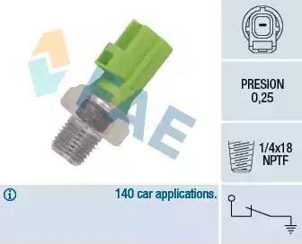 FAE 12613 - Датчик давления масла sparts.com.ua