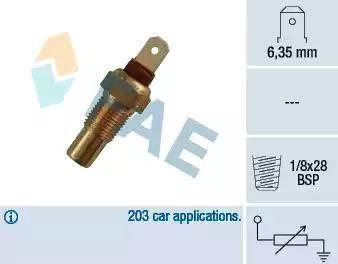 FAE 31570 - Датчик, температура охлаждающей жидкости sparts.com.ua