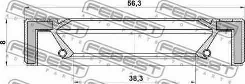 Febest 95GAY40560808X - Уплотнительное кольцо вала, приводной вал sparts.com.ua