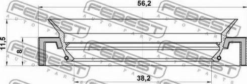 Febest 95HAY40560812L - Уплотнительное кольцо вала, приводной вал sparts.com.ua