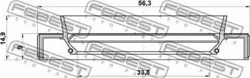 Febest 95HBY35560915C - Уплотнительное кольцо вала, приводной вал sparts.com.ua