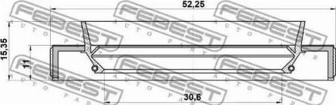 Febest 95HBY32521115X - Уплотнительное кольцо вала, приводной вал sparts.com.ua
