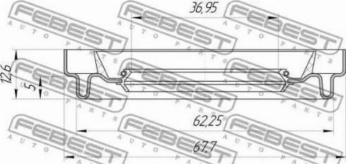 Febest 95HDS38620513X - Уплотнительное кольцо вала, приводной вал sparts.com.ua