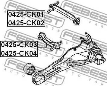 Febest 0425-CK03 - Рычаг независимой подвески колеса sparts.com.ua