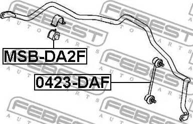 Febest 0423-DAF - Тяга / стойка, стабилизатор sparts.com.ua
