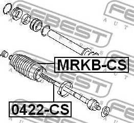 Febest 0422CS - Осевой шарнир, рулевая тяга sparts.com.ua