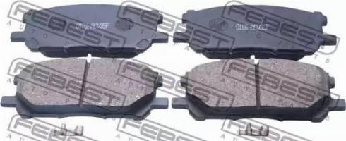 Febest 0101-ACU35F - Тормозные колодки, дисковые sparts.com.ua