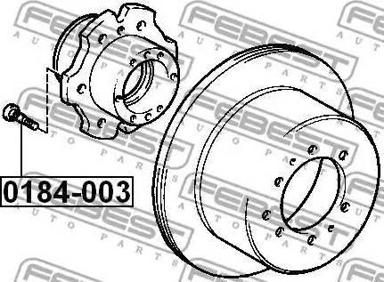 Febest 0184003 - Болт крепления колеса sparts.com.ua