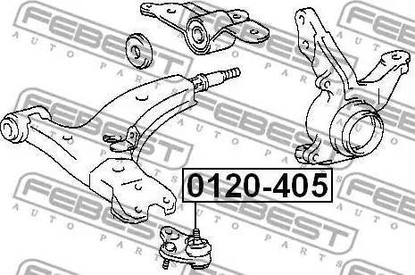 Febest 0120-405 - Шаровая опора, несущий / направляющий шарнир sparts.com.ua