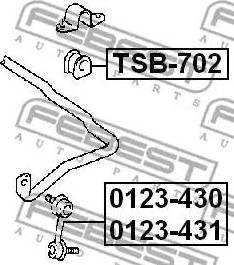 Febest 0123-430 - Тяга / стойка, стабилизатор sparts.com.ua