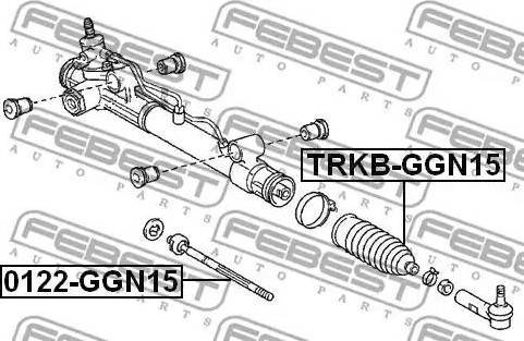 Febest 0122GGN15 - Осевой шарнир, рулевая тяга sparts.com.ua