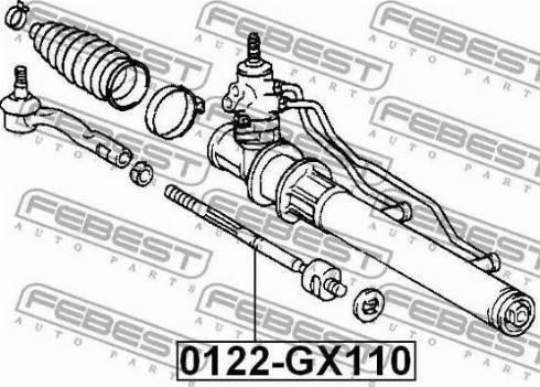 Febest 0122-GX110 - Осевой шарнир, рулевая тяга sparts.com.ua