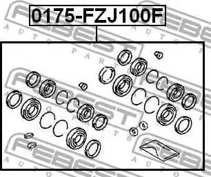 Febest 0175-FZJ100F - Ремкомплект, тормозной суппорт sparts.com.ua
