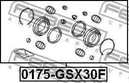 Febest 0175GSX30F - Ремкомплект, тормозной суппорт sparts.com.ua