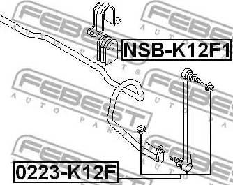 Febest 0223-K12F - Тяга / стойка, стабилизатор sparts.com.ua