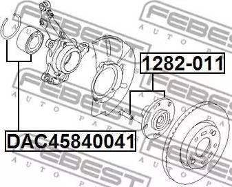 Febest 1282-011 - Ступица колеса, поворотный кулак sparts.com.ua