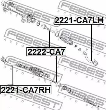 Febest 2221-CA7RH - Наконечник рулевой тяги, шарнир sparts.com.ua