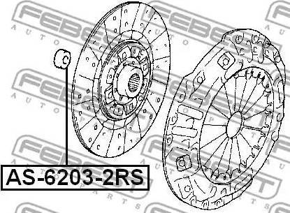 Febest AS-6203-2RS - Подшипник sparts.com.ua