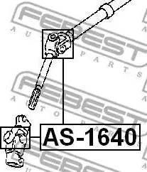 Febest AS1640 - Шарнир, вал сошки рулевого управления sparts.com.ua