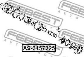 Febest AS3457225 - Подшипник, приводной вал sparts.com.ua