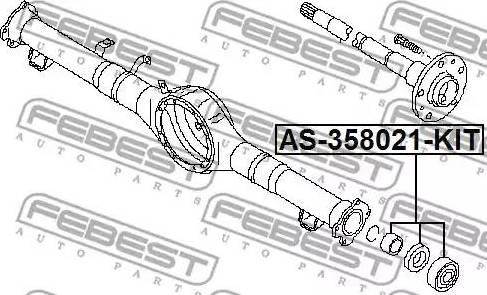 Febest AS358021KIT - Подшипник, приводной вал sparts.com.ua