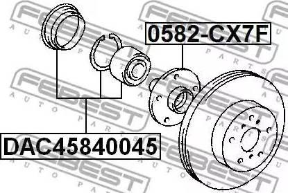 Febest DAC45840045 - Комплект подшипника ступицы колеса sparts.com.ua