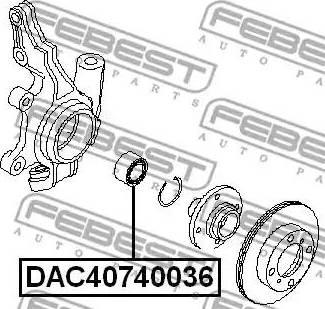 Febest DAC40740036 - Подшипник ступицы колеса sparts.com.ua