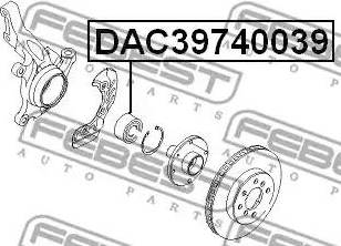 Febest DAC39740039 - Подшипник ступицы колеса sparts.com.ua
