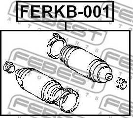 Febest FERKB-001 - Пыльник, рулевое управление sparts.com.ua