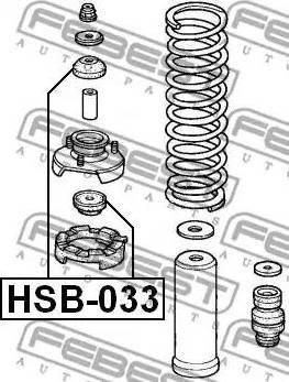 Febest HSB-033 - Втулка амортизатора, подушка sparts.com.ua