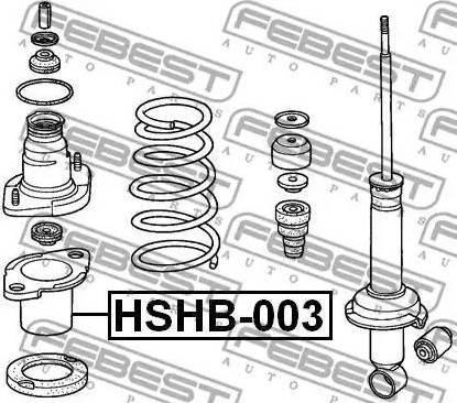 Febest HSHB003 - Пыльник амортизатора, защитный колпак sparts.com.ua