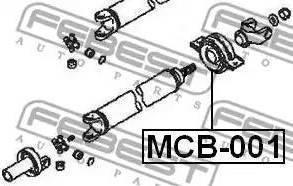 Febest MCB001 - Подшипник карданного вала, промежуточный/подвесной sparts.com.ua
