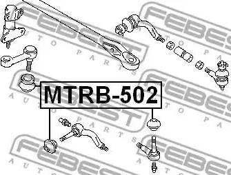 Febest MTRB502 - Ремкомплект, наконечник поперечной рулевой тяги sparts.com.ua
