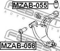 Febest MZAB-055 - Сайлентблок, рычаг подвески колеса sparts.com.ua