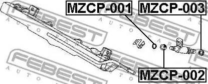 Febest MZCP002 - Прокладка, корпус форсунки sparts.com.ua