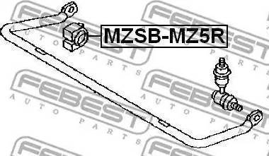 Febest MZSB-MZ5R - Втулка стабилизатора, нижний сайлентблок sparts.com.ua