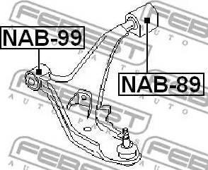 Febest NAB-89 - Сайлентблок, рычаг подвески колеса sparts.com.ua