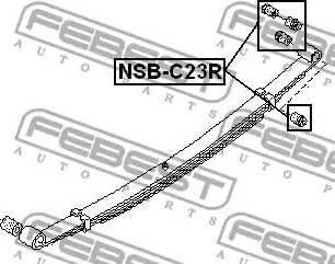 Febest NSBC23R - Втулка, листовая рессора sparts.com.ua