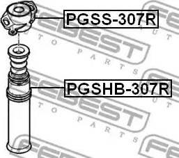 Febest PGSS-307R - Элементы крепления амортизатора sparts.com.ua