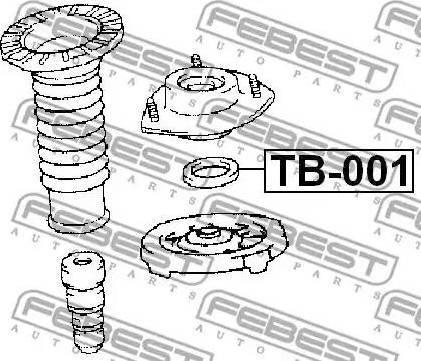 Febest TB-001 - Подшипник качения, опора стойки амортизатора sparts.com.ua